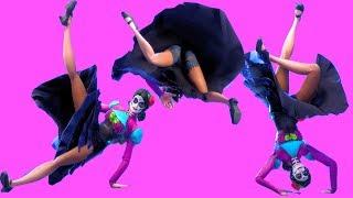 Fortnite All Dances Season 1-6 with Rosa Updated to Headbanger