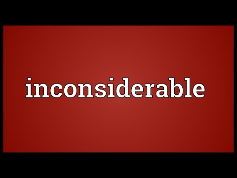 Header of inconsiderable