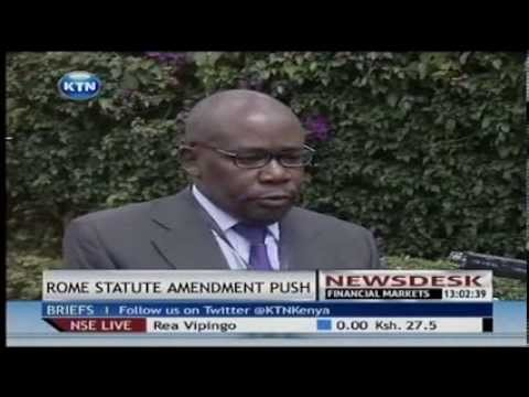 Kenya pushing for ICC deferral bid at the assembly of state parties to the Rome Statute