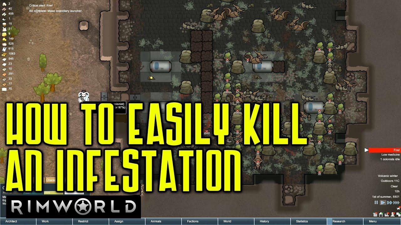 How to Kill a Massive Hive Infestation | Rimworld Guide