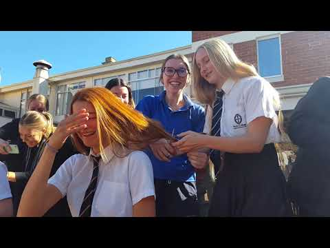 Perth College haircuts for charity