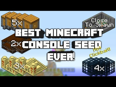 Minecraft: The Best EVER Seed In Minecraft Console Edition 2017!(Not Clickbait)
