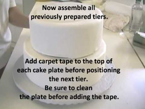 How to Stack a Wedding Cake--Very Sturdy Method & How to Stack a Wedding Cake--Very Sturdy Method - YouTube
