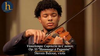 Heifetz 2019: Vieuxtemps: Capriccio in C minor, Op. 55 | Steven Baloue, viola