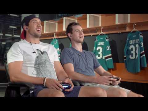 San Jose Sharks & LA Kings Play NHL 17