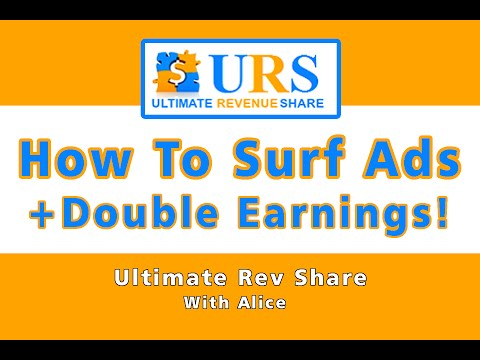 URS | Ultimate Revenue Share – How To Surf Ads + Double Earnings Weekend! – Review & Tutorial