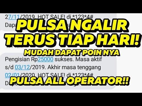 APLIKASI PENGHASIL PULSA GRATIS ALL OPERATOR - MUDAH DAPET POIN NYA!