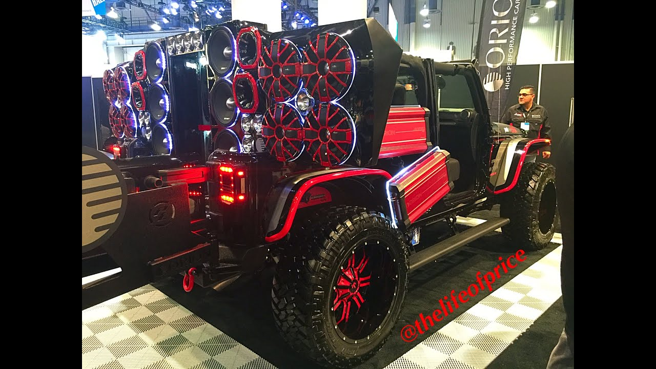 INSANE JEEP PACKED WITH ORION SPEAKERS!! - YouTube