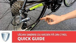 Sådan smører du kæden på din cykel, samt opbygningen af en cykelkæde