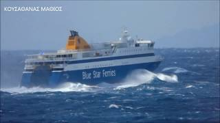 Rough seas in Aegean Sea Greece - BLUE STAR PAROS