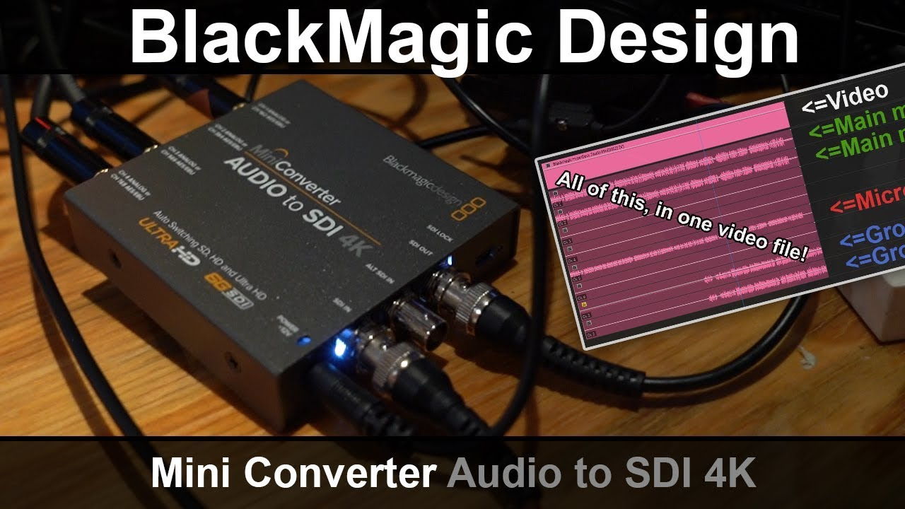 Blackmagic Design Mini Converter Audio To Sdi 4k Review Youtube