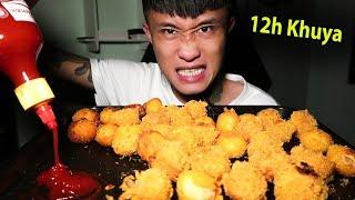 Gấu Vlogs - Ăn Khuya 12h Đêm l Bánh Khoai Tây Nhân Hải Sản
