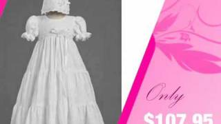 Cotton Embroidered Christening Gown