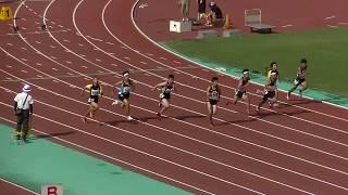 20180609北九州市中学陸上各区大会 中3男子100m決勝(小倉南)