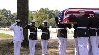 "Burial of Tarawa MIA Marine PFC Randolph ""Bud"" Allen  July 29, 2014"