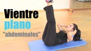 VIENTRE PLANO:Rutina de ejercicios de abdominales
