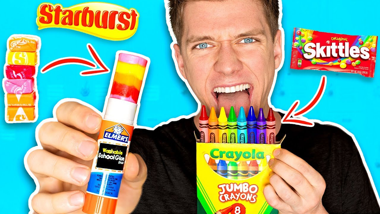 DIY Edible School Supplies!!! *FUNNY PRANKS* Back To School! Learn How To Prank using Candy & Fo