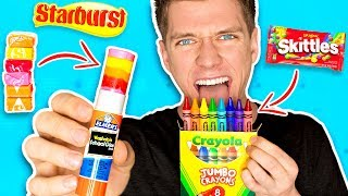DIY Edible School Supplies!!! *FUNNY PRANKS* Back To School!...