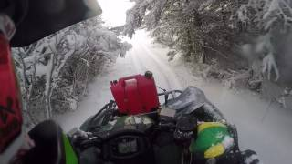 2016 yamaha grizzly 700 with camso t4s track kit