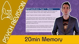 Memory - AQA Psychology UNDER 20 MINS! Quick Revision for Paper 1