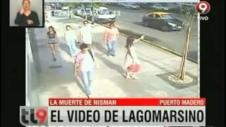 Difunden video de Lagomarsino ingresando al edificio de Nisman