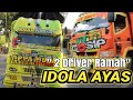 2 TRUCK ARTIS !!! Oppa Muda & Anti Gosip ||  Keramahan 2 Driver Truck Indonesia ....