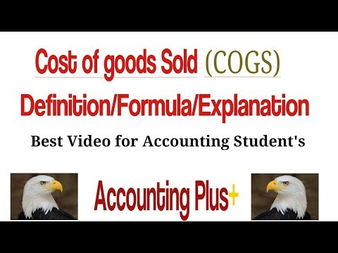 Cost of Goods Sold (COGS) Formula | Calculation | Definition | Example