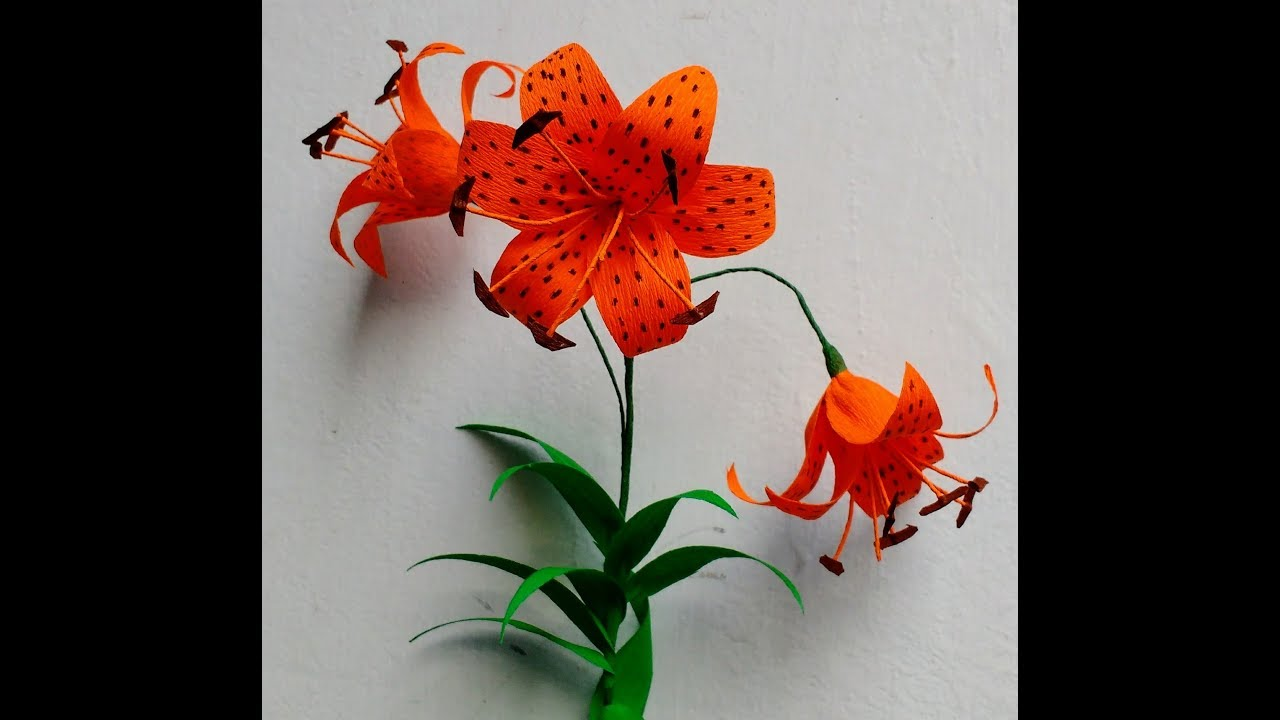 How to make crepe paper flowers tiger lily lilium lancifolium how to make crepe paper flowers tiger lily lilium lancifolium flower 229 izmirmasajfo