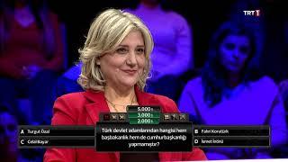 3'te 3 Tarih Türk devlet adamlarından hangisi hem Başbakanlık hem Cumhurbaşkanlığı yapmamıştır?