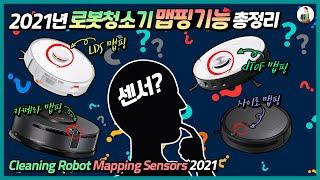 2021년 로봇청소기 맵핑기능 정리/LDS/카메라/자이…