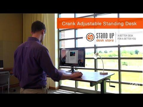 Crank Adjustable Standing Desk | Stand Up Desk Store