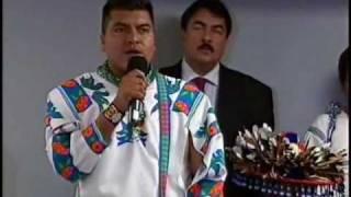 Conferencia de Prensa en el Senado Autoridades del Pueblo Wixárika (Huichol) 1de3
