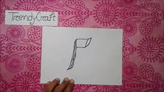 How to draw Axe from letter F -  Funny Alphabet drawing