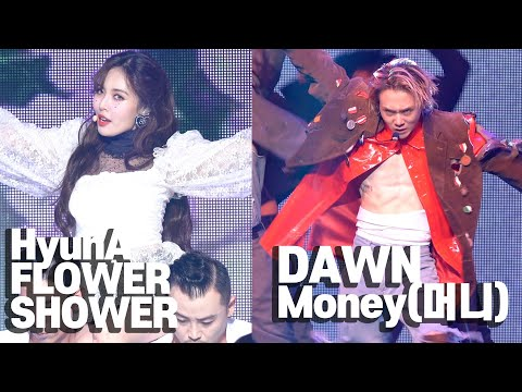 [4K] HyunA & Dawn 'Flower Shower' & 'Money' STAGE SHOWCASE (현아, 던, ENG, KOR cc)