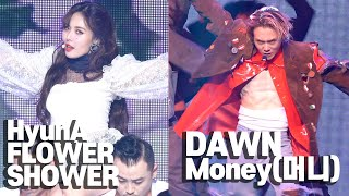 [4K] HyunA & Dawn 'Flower Shower' & 'Money' STAGE SHOWCASE (현아, 던, ENG, KOR cc)
