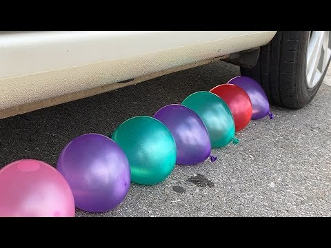 experiment-car-vs-water-balloons-|-crushing-crunchy-&-soft-things-by-car-|-test-ex