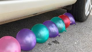 Download Experiment Car vs Water Balloons | Crushing crunchy & soft things by car | Test Ex Mp3 and Videos