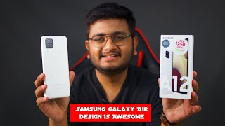 Samsung A12 Unboxing & Review | Design Fit Hai