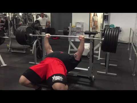 Strongman Eddie Hall Bench Presses 584 Pounds for 6 Reps