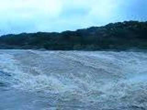 Pedernales Falls, Texas near flood stage - YouTube