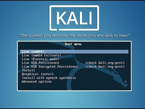Hướng dẫn cài đặt Kali Linux