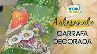 Artesanato – Garrafa decorada