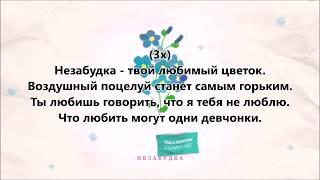 Тима Белорусских - Незабудка + текст (lyrics)