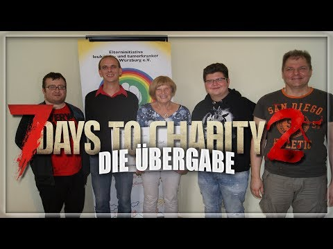 7 DAYS TO CHARITY 2 💗 Spendenstream 30.09.17 💗 Die Übergabe