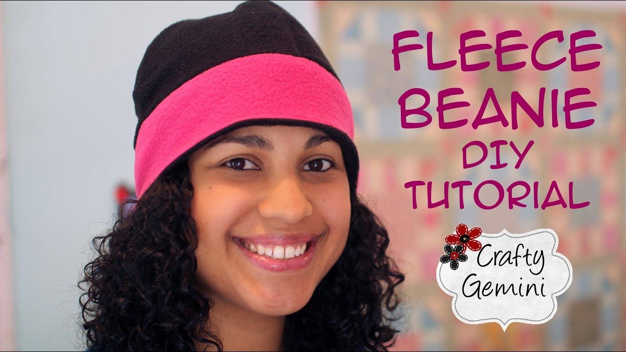 Fleece beanie hat diy tutorial youtube pronofoot35fo Choice Image