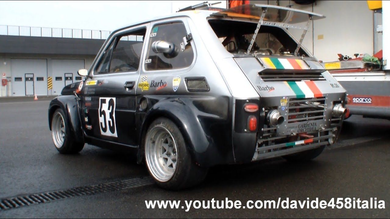 pure sound! fiat 126 with yamaha r1 engine: start up + track - youtube