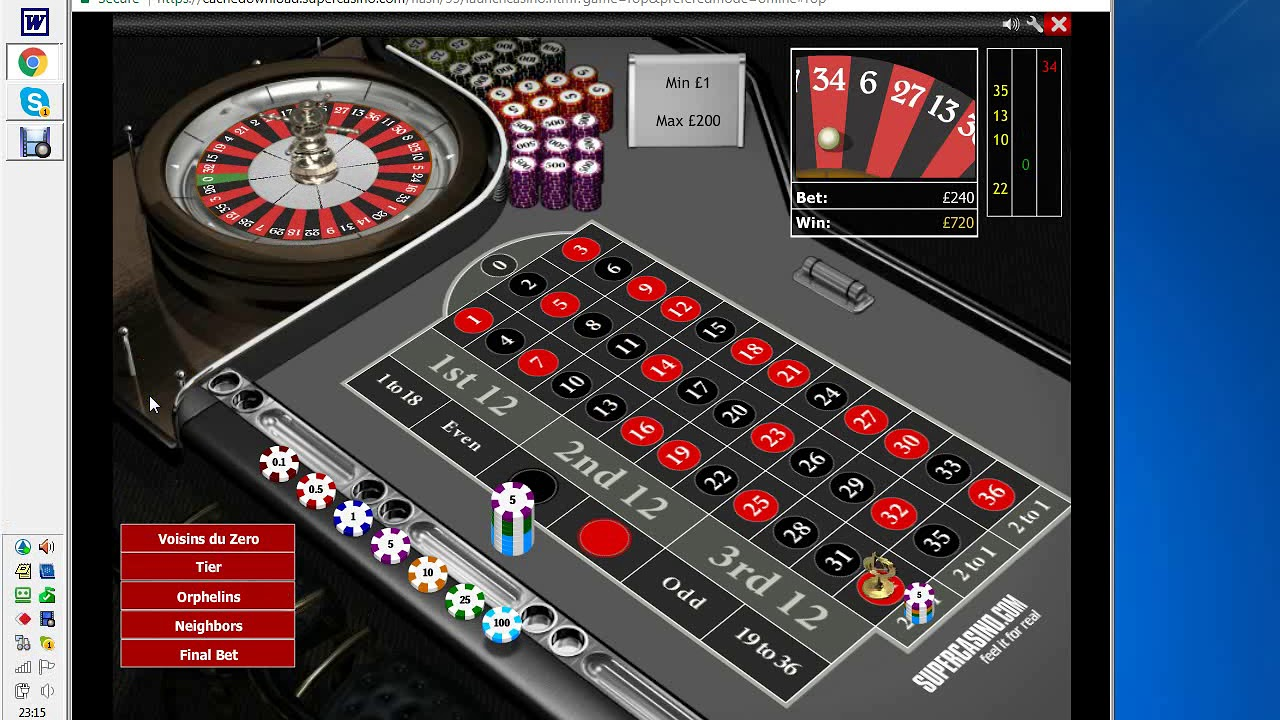 Internet Roulette System