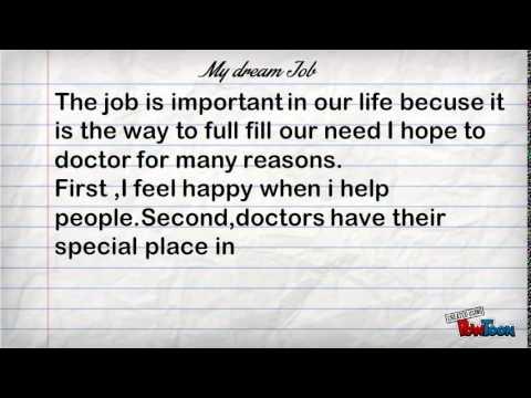 My Dream Job Grade 8 Youtube