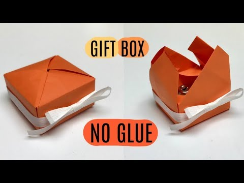 DIY How To Make Gift Box Without Glue
