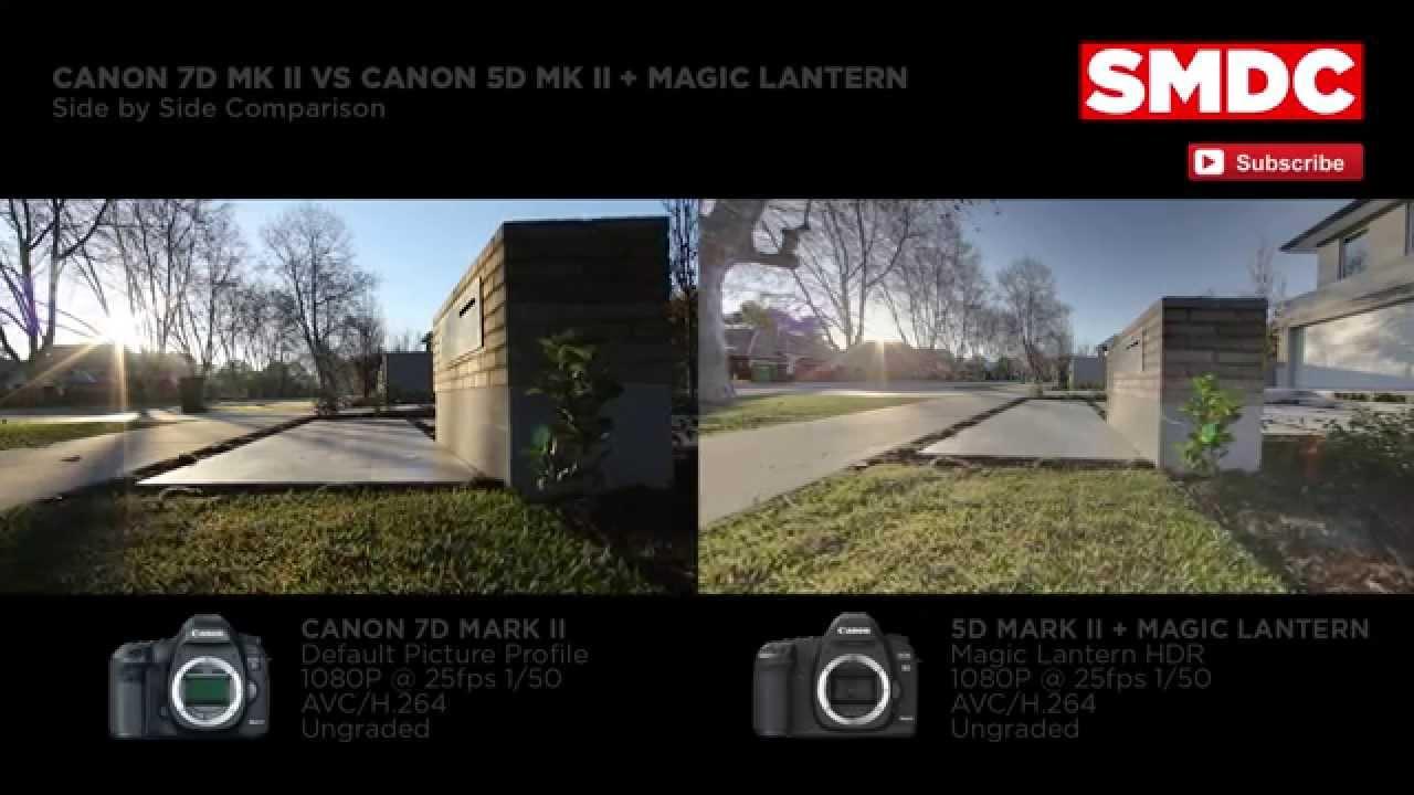 Canon 7DMKII Vs 5DMKII + Magic Lantern Firmware